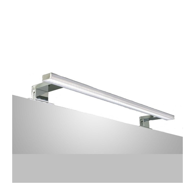 Aplique de ba o led luz calida de 60cm ancho for Aki espejos pared